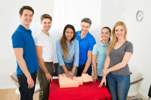 Group Of Multiethnic People Learning How To Perform Cpr